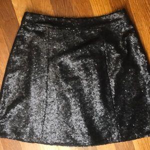 Decree Black Sequin Mini Skirt